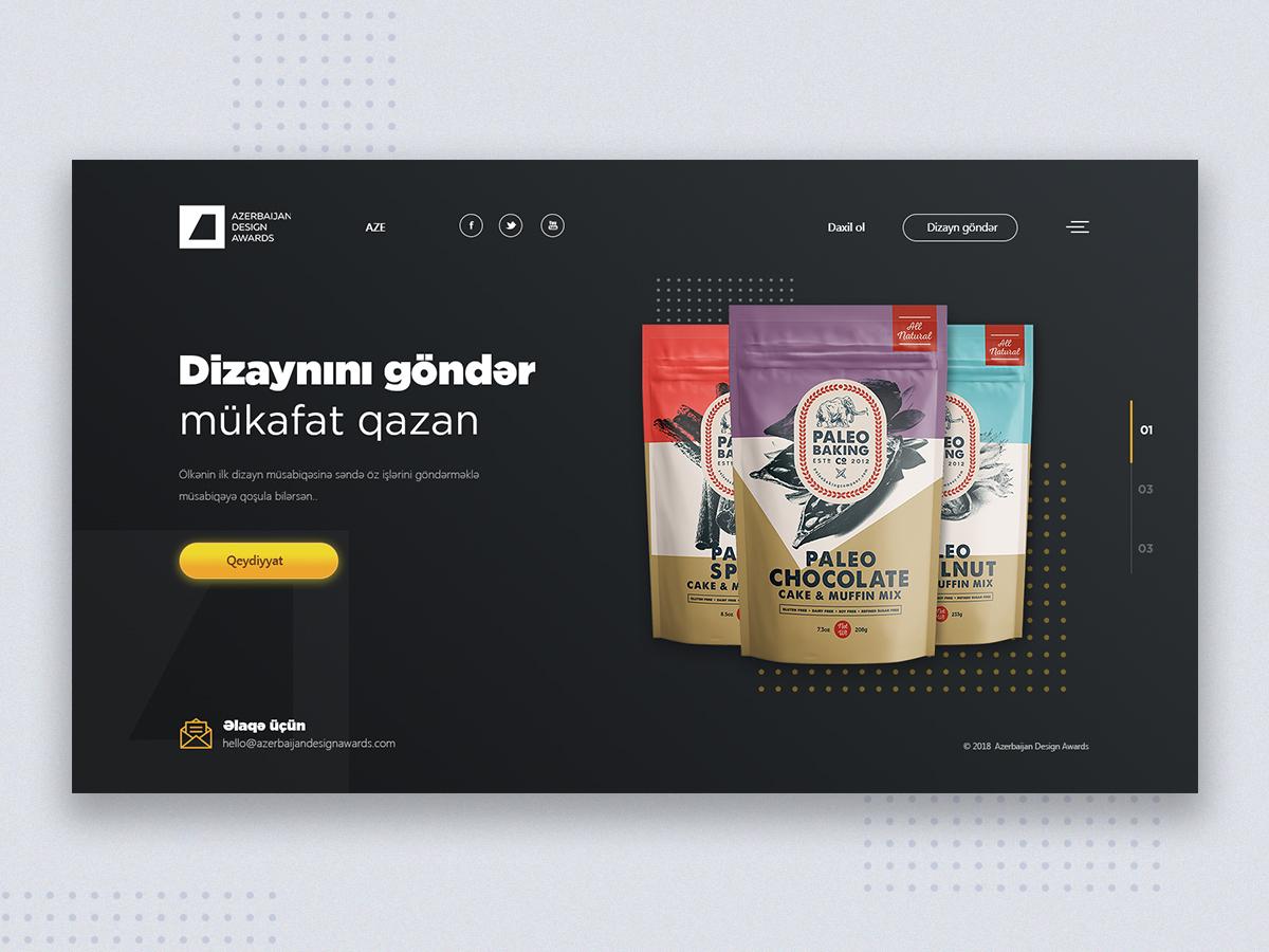 Azerbaijan Design Award web site design azerbaijan award design ui web ux design ui design web design web site