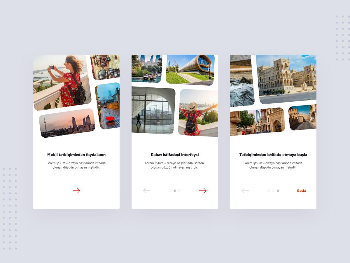 Tourism Application Onboarding onboarding interface tourism app tourism application app design intro screen intro ui ux design ui design
