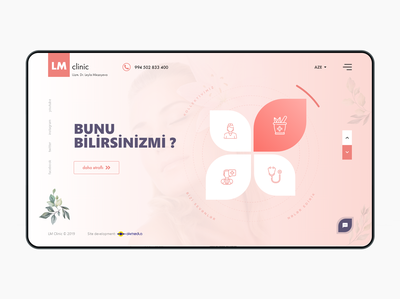 LM Clinic web design project