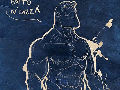 muscoli vectorial illustration skatch