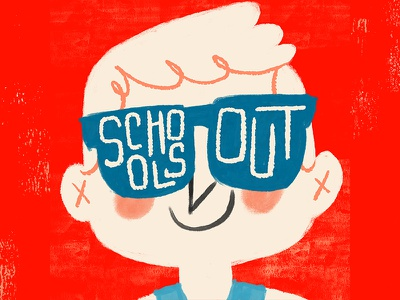 Schools Out! character design childrens books kid lit art illustration