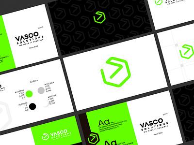 Vasco Solutions rebranding identity identitydesign branding design logo