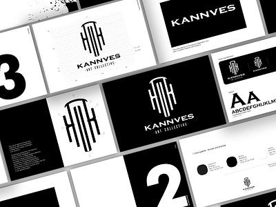 Kannves Art Collective typography identitydesign brandidentity rebranding brand design logo design identity branding