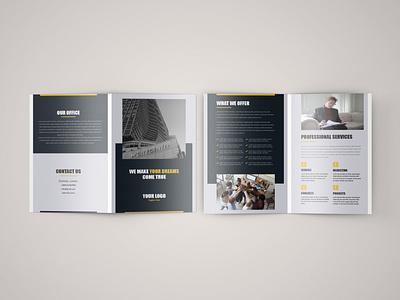 Brochure Design bifold brochure brochure design brochure photoshop typography design minimal vector branding illustration