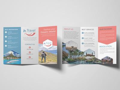 Trifold Brochure photoshop typography vector trifold brochure minimal brochure design brochure branding illustration design