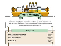 Gin & tonic illustrations