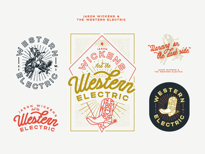 Western Electric cowboy boots cowboy illustration illustrator western