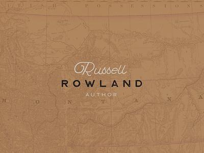 Russell Rowland Logo script type montana logo author