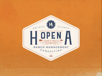 H Open A logo logo branding western ranch