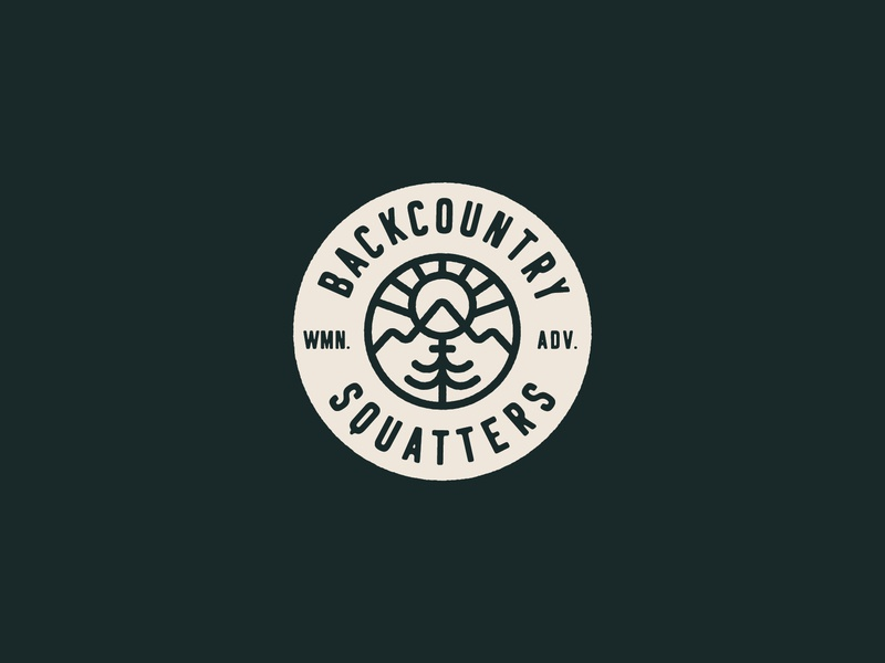 Backcountry Squatters Logo adventure logo backcountry adventure outdoors