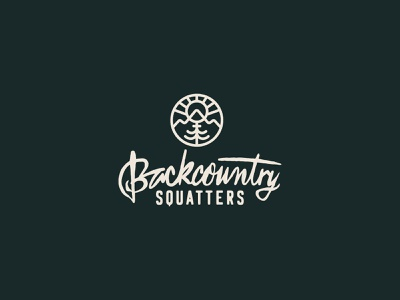 Backcountry Squatters logo adventure logo backcountry adventure outdoor