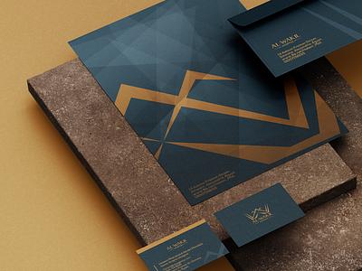 Stationery Identity for Al Wakil Hospitals stationery design envelope portfolio business cards identity idenity logo branding