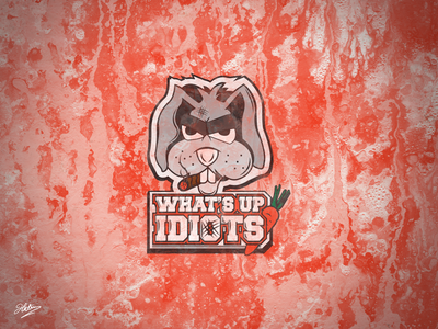 What's Up IDIOTS! vector design typography illustration