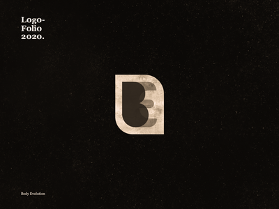 Body Evolution icon calligraphy illustration typography vector logo branding design