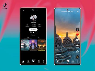 Redesign TikTok uidaily uidesigns minimal uikits uidesigner ui design design app ui