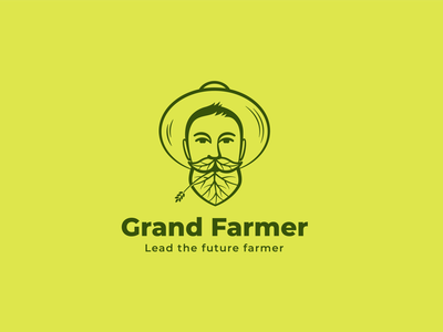 Grand Farmer - Lead the future farmer logos designs vector logo design logo graphic design design logo design branding and identity branding