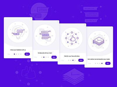 Userpace – Widget Onboarding Screens walkthrough feedback flat web app illustration ui splash explainer widget onboarding