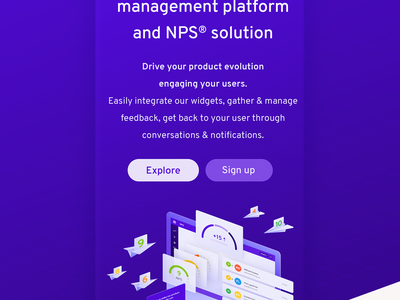 Userpace - Landing Page NPS® beta nps userpace page landing