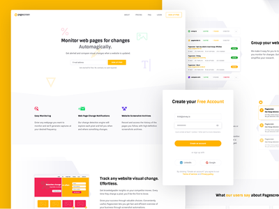 Pagecreen – Feature Landing Page lead feature page landing