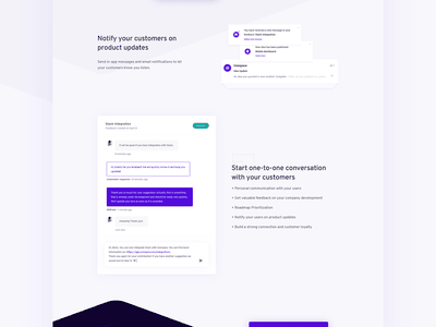 Userpace – Landing Page – Feedback Management ui illustration app web flat feature feedback landing page