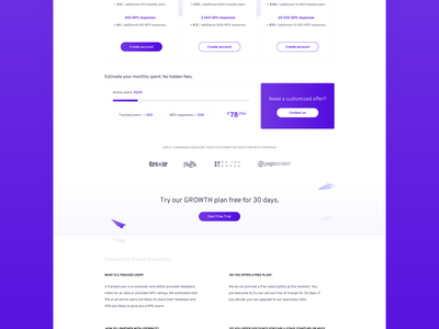 Userpace – Pricing Page saas page pricing userpace