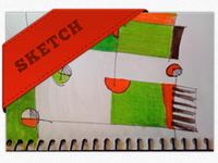 Ribboning that sketchbook