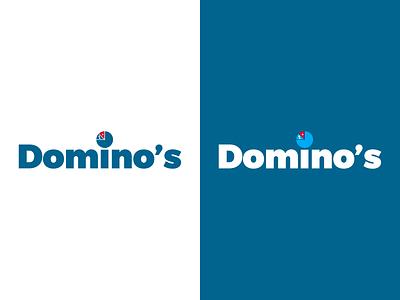 Dominos - Weekly Warm-Up dribbbleweeklywarmup brand design branding dominos pizza logo logo adobe illustrator cc