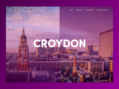 Croydon Homepage town website design web design website sketchapp dribbbleweeklywarmup