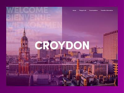 Croydon Homepage town website design web design website sketchapp dribbbleweeklywarmup