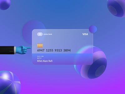 Glass Morphism | VISA Card glass card cards ui money glass effect master card credit card bank card bank glassy glass morphism