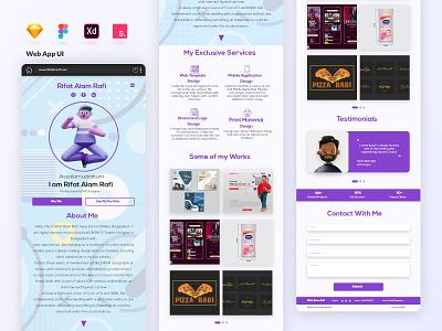 Web App UI | Personal Portfolio Website Design personal web ui  ux web design web app design ui design resume cv portfolio website personal website landing page 3d illustration