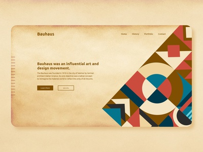 Bauhaus | Web UI web ui design web template design web design ui design trendy design landing page design header design