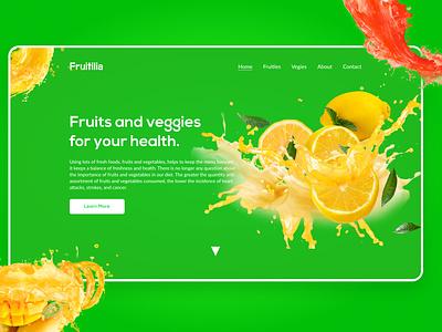 Fruitilia | Web UI web ui design web template design website design web design ui design trendy design landing page design header design