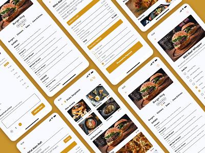Food Delivery App Design grocery app burger pizza restaurant app ui food ui mobile app design food delivery service food delivery app food app food