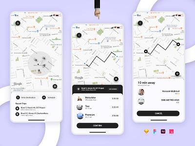 Ride Sharing App bike app bike sharing uber ios app design android app design taxi booking app car sharing car booking app bike ride ride sharing app