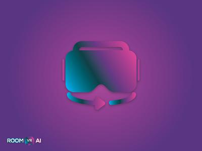 ROOMVRAI | Logo Design website logo brand design technology logo tech logo vr 3d logo minimal logo minimalist logo logo design