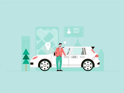 Take a taxi 司机 在线打车 打车 ui graphic design art branding 小场景 design flat illustrator illustration