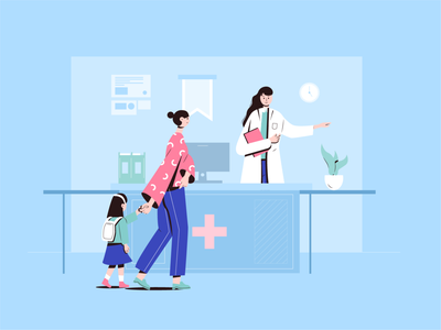 Ask the doctor hospital design flat art 小场景 illustrator ui graphic design illustration