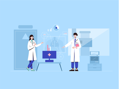 View chest radiograph vector hospital art graphic design 小场景 ui illustrator design flat illustration