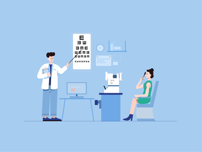 Test vision vector 小场景 hospital design art ui illustrator graphic design flat illustration