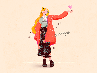 Girl girl character girly girl illustrator design flat graphic design illustration