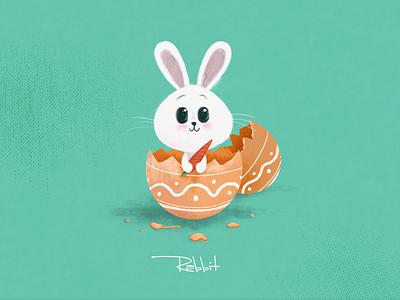 Rabbit flat design illustrator rabbit graphic design illustration