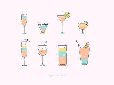Summer drink mbe style branding icon design icon logo flat vector graphic design ui design illustration