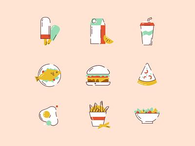Food icon logo icon design flat graphic design illustrator ui art iconography food icon illustration
