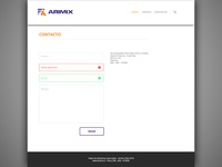 Arimix redesign - Contact section