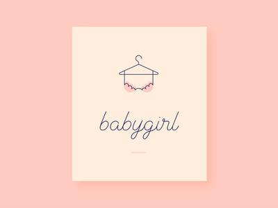 babygirl London lingerie. babygirl hanger bra girlie lingerie brand identity