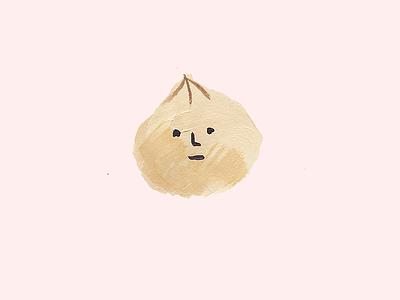 Dodgy dumpling moody face hungry painting illustration dumpling