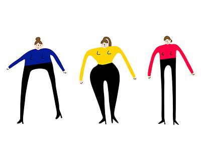 Everybody (Backstreet's Back) london illustrator illustration woman shapes body everybody