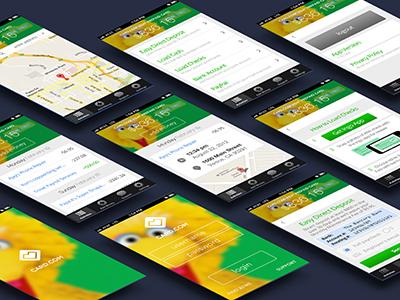 Card.Com App Screens