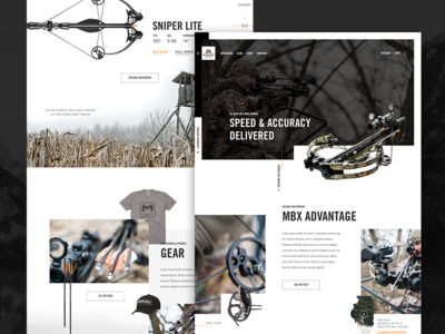 Mission Crossbows | Website ecommerce ui website web crossbow mission hunter hunting lifestyle outdoor